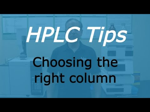 How to choose the right HPLC column